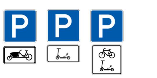 Duitsland: verkeersborden voor elektrische (huur)steps versus Nederland: verkeersborden met max 100