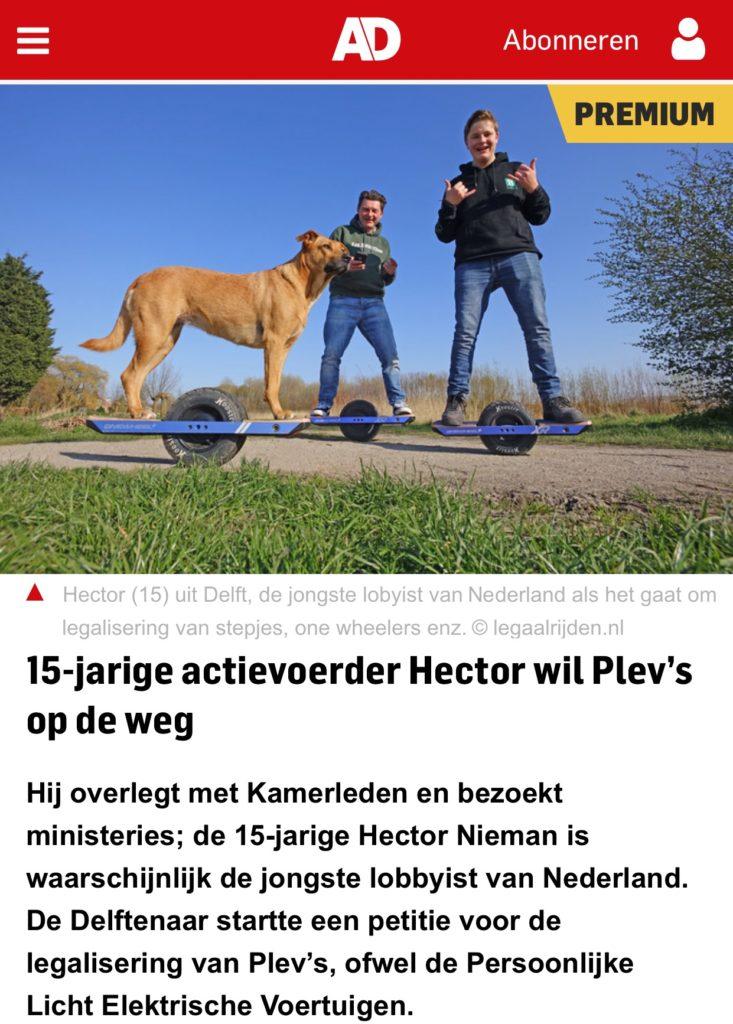 Initiatiefnemer van de Legaalrijden.nl petitie in het AD