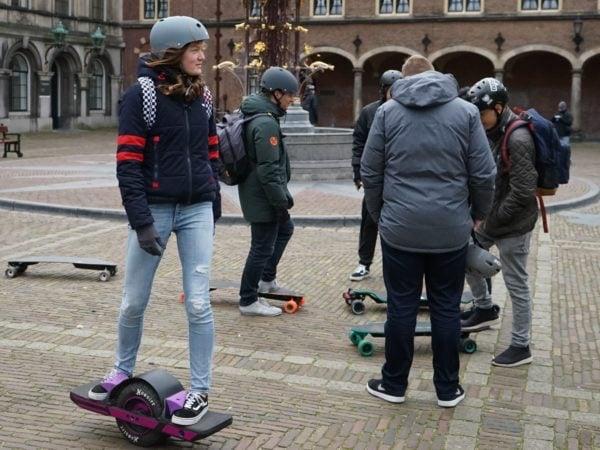 E-skateboarding blijft nog steeds een misdaad in Nederland
