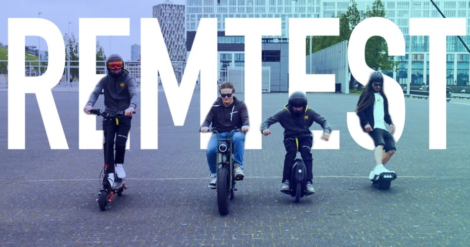 Video: Rem test van de Onewheel, EUC, elektrisch skateboard en de E-step