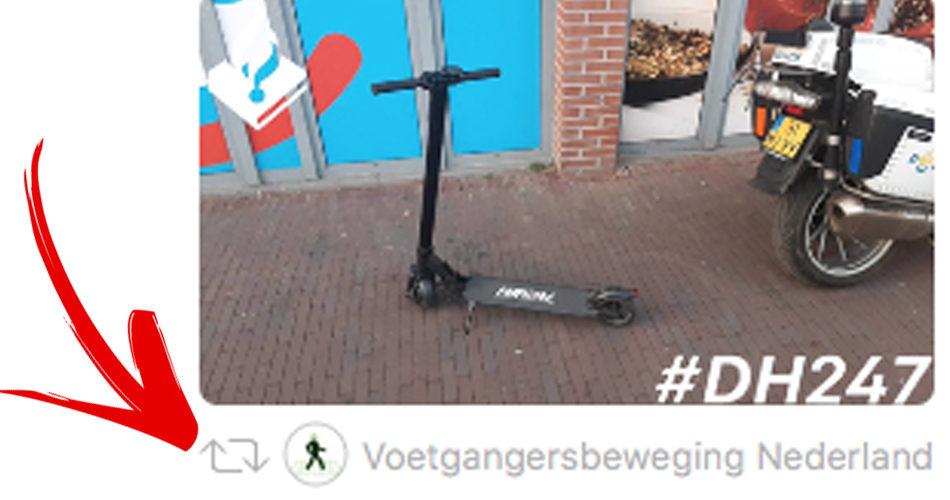Voetgangers en joggers op het fietspad zorgen voor gevaarlijke situaties voor PLEV eigenaren