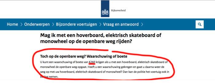 Politie Rotterdam-Delfshaven: goedgekeurde elektrische PLEV's moeten op de stoep