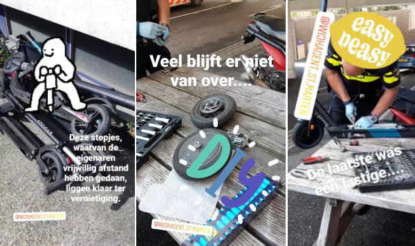 Politie pest gebruikers van LEV's met in elkaar geplakte filmpjes op social media