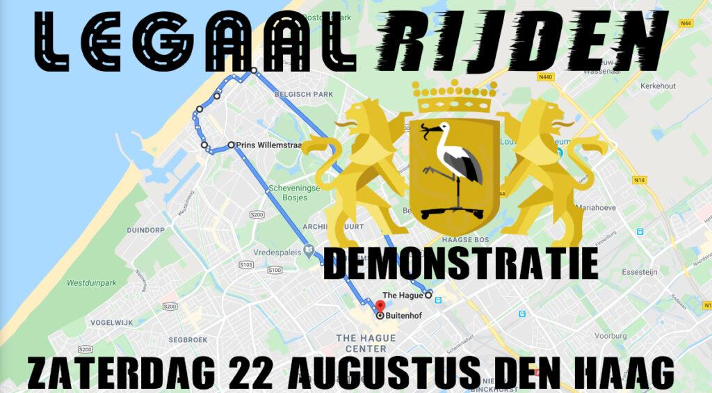 LegaalRijden Demonstratie zaterdag 22 augustus in Den Haag