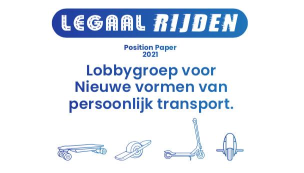Dit is de LegaalRijden Position Paper met feiten over LEVs