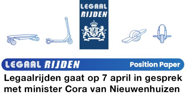 Legaalrijden gaat in gesprek met minister Cora van Nieuwenhuizen