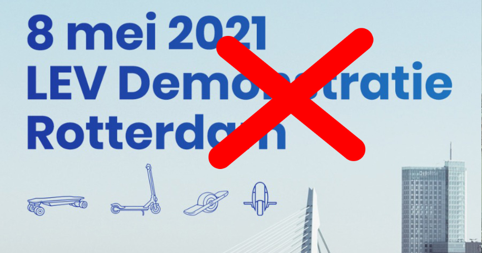 Gemeente Rotterdam niet in staat om Legaalrijden LEV demonstratie te begeleiden