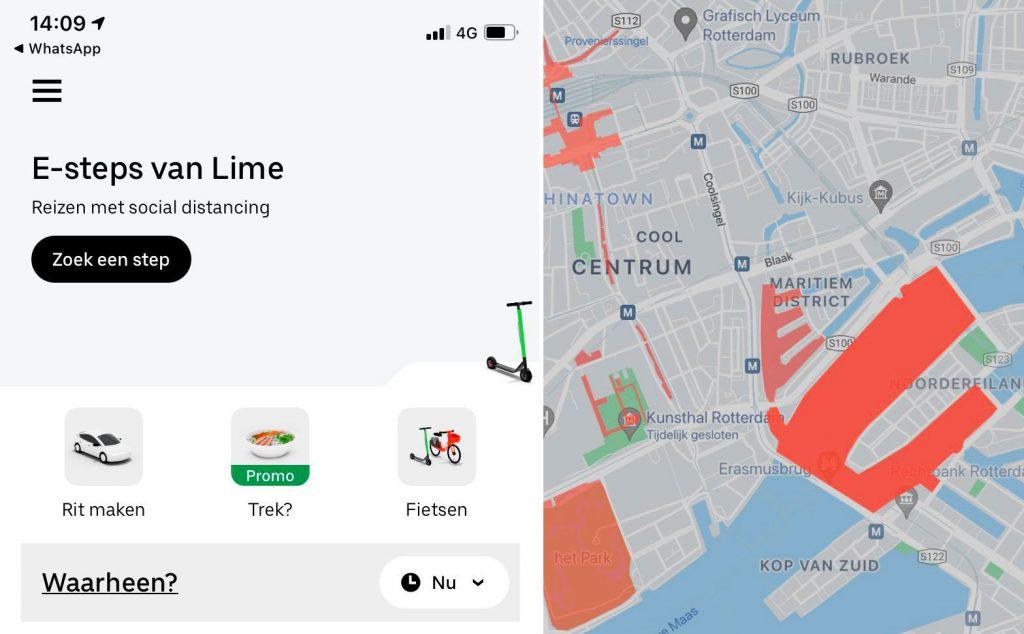 Verzekeraars zijn klaar voor de e-step en Lime deelsteps in Rotterdam?