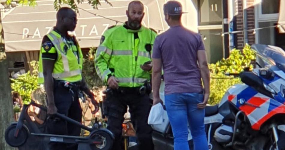 De politie geeft eigenlijk nooit een boete als je met je e-step de openbare weg op gaat...