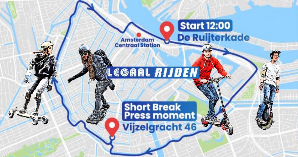 Laatste updates over de Legaalrijden demonstratie zaterdag 10 juli in Amsterdam