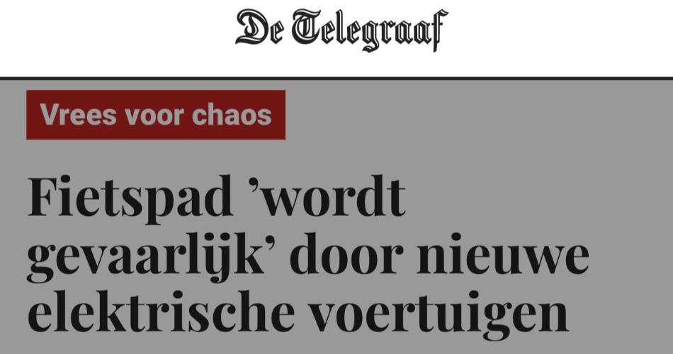 Fietsersbond en VVN verspreiden via Telegraaf aannames die niet op feiten gebaseerd zijn