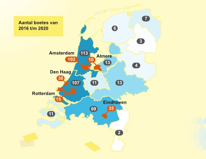 Boetes voor gebruik van e-step vorig jaar verdrievoudigd
